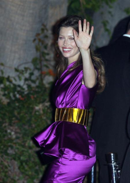 Jessica Biel at the Vanity Fair Oscar party