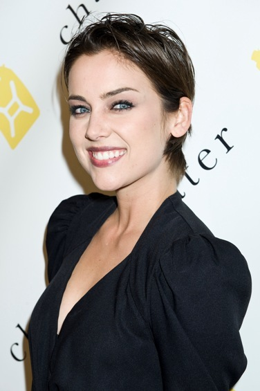 Jessica Stroup's short, chic hairstyle