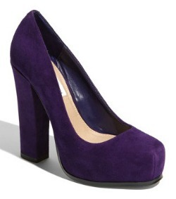 Jewel-tone pumps