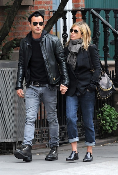 Jennifer and Justin take a stroll