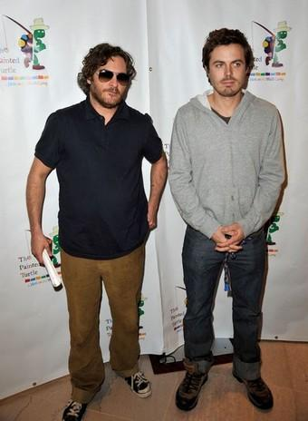 Joaquin Phoenix and Casey Affleck at The World Of Nick Adams