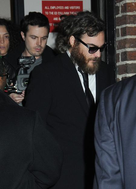 Joaquin Phoenix leaving David Letterman