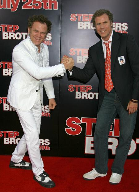 John C. Reilly and Will Ferrell at the Step Brothers premiere
