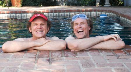 John C. Reilly and Will Ferrell in the pool