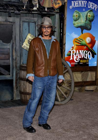 Depp at the Rango Premiere