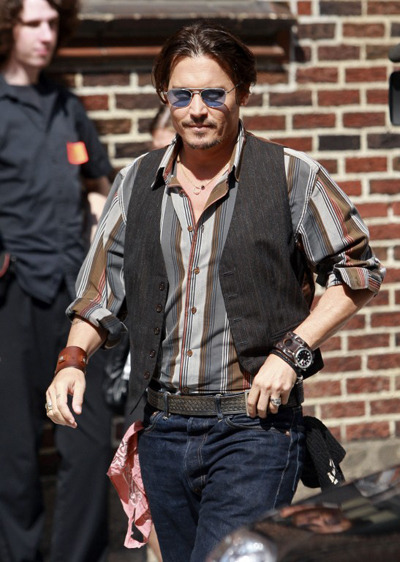 Johnny Depp at The Late Show