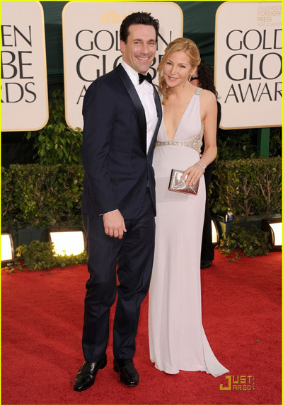 Jon Hamm at the Golden Globes