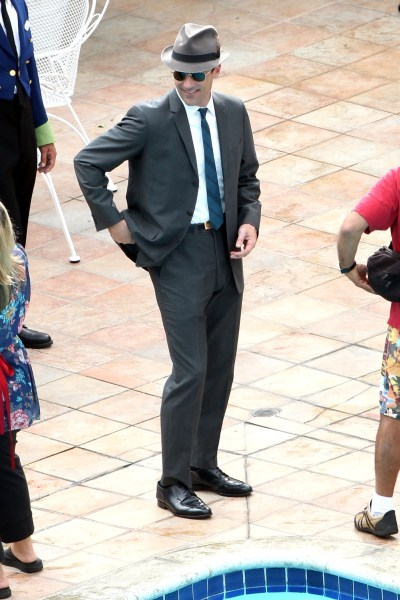 Jon Hamm during a Mad Men episode