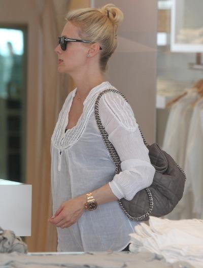 January Jones in a blouse