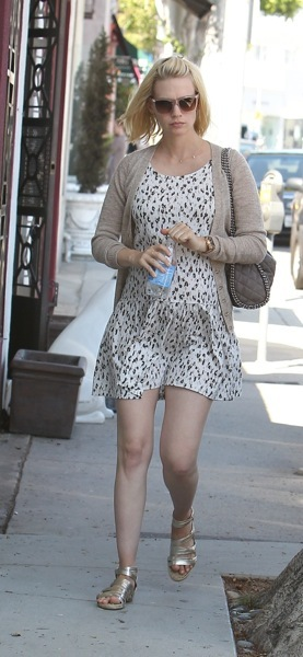 January Jones in animal print