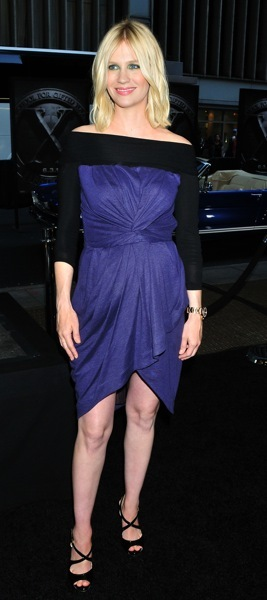 January Jones in purple