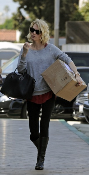 January Jones in layers