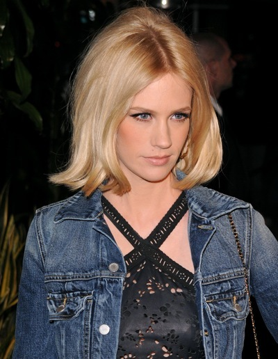 January Jones with teased hair