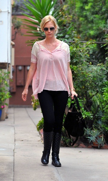 January Jones in booties