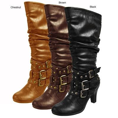Journee Collection Slouchy Multi-buckle Boots