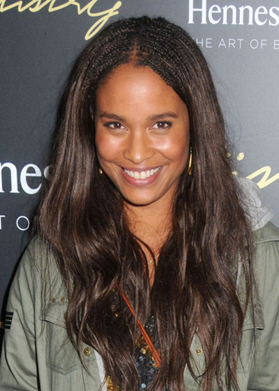 Joy Bryant's long, wavy hairstyle