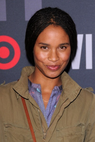 Joy Bryant's braided, pulled-back hairstyle