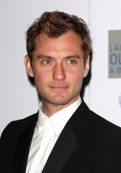 Jude Law flashing his trademark smolder at the 2010 Laurence Olivier Awards