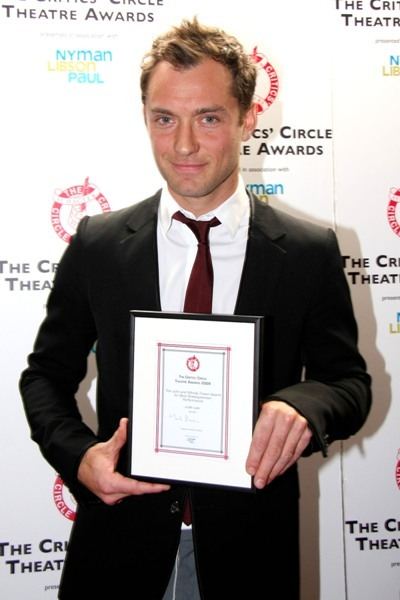 Jude Law at the 21st Annual Critics' Circle Theatre Awards