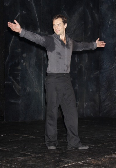 Jude Law performing at the Broadway production of &#039;Hamlet&#039;