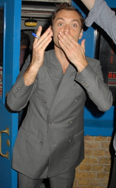 Jude Law blows a kiss to his fans