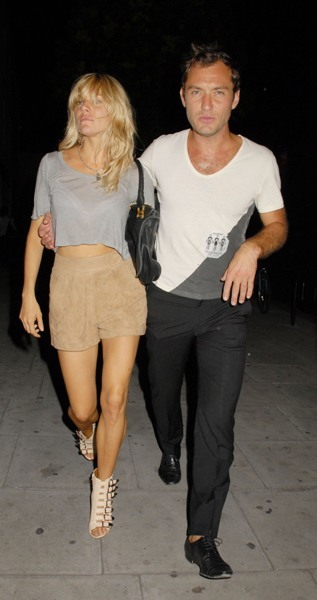 Jude Law and Sienna Miller leaving the The Camden Roundhouse