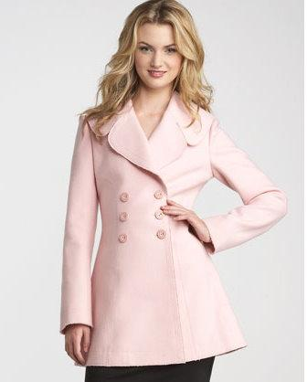 Juicy Couture pink wool coat