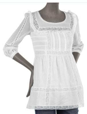 Juicy Couture White Lace Top