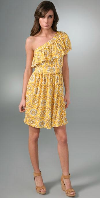 Juicy Couture Jackie Print Ruffle Dress