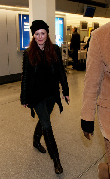 Julianne Moore arrives at Tegel airport in Berlin