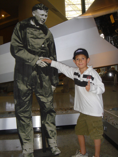 Julien (7 years old) at the Air & Space Museum