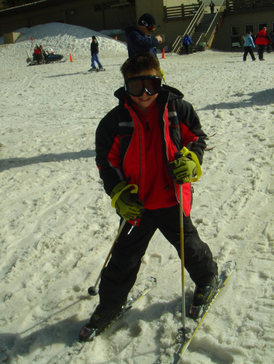 Julien Skiing (8 years old)
