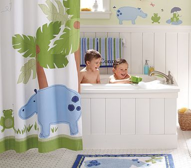 Kids' Jungle Bathroom - Bathroom decorating ideas