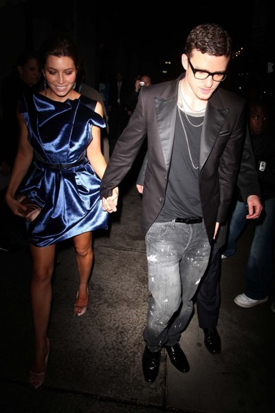 The couple step out together