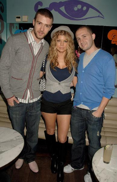 Fergie with Justin Timberlake and Trace Ayala at a Grammy's party