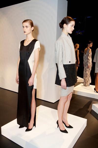 Real-life models pose at the Kaelen Presentation