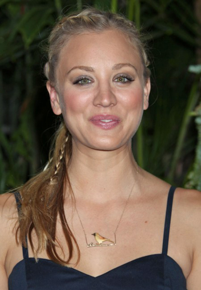 Kaley Cuoco's braided hairstyle