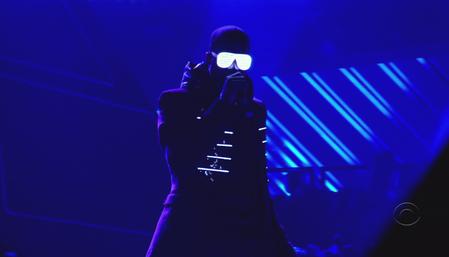 Kanye West glows