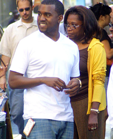 Kanye West and his Mom