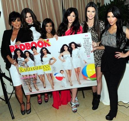 The Jenner-Kardashian clan celebrating their RedBook appearance.