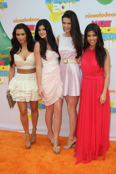 Kim, Kylie, Kendall and Kourtney at the Nickelodeon Kids Choice Awards.
