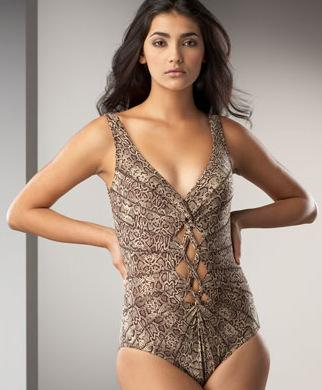 Karla Colletto Snake Print Swimsuit
