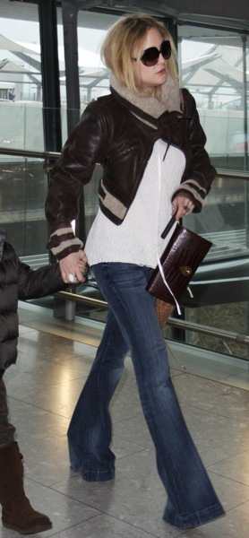 Kate Hudson in cropped jacket