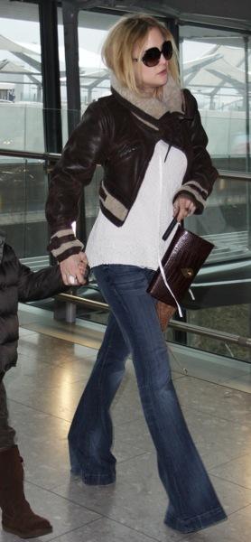 Kate Hudson in cropped jacket