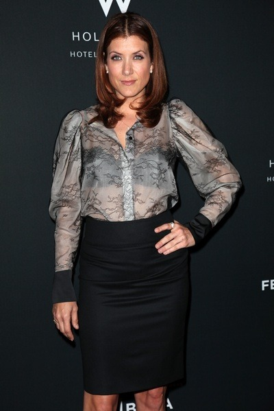 Kate Walsh in sheer top