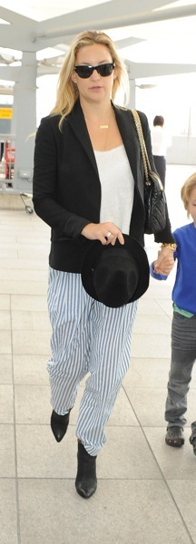 Kate Hudson in striped pants