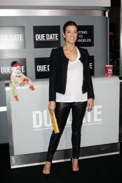 Kate Walsh in leather leggings