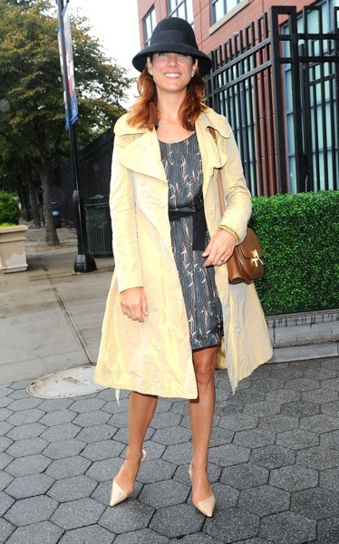 Kate Walsh in a fedora