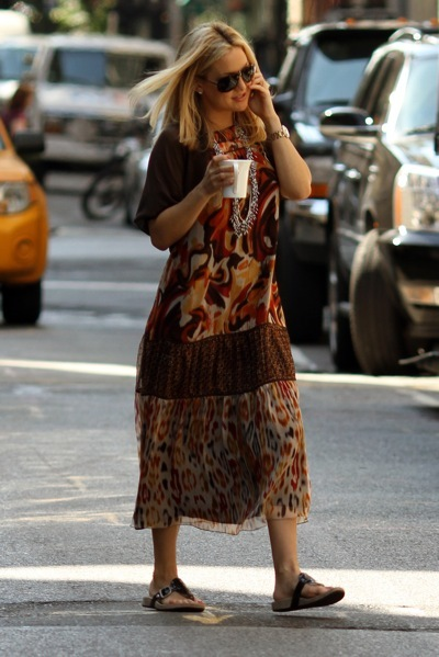 Kate Hudson in boho dress