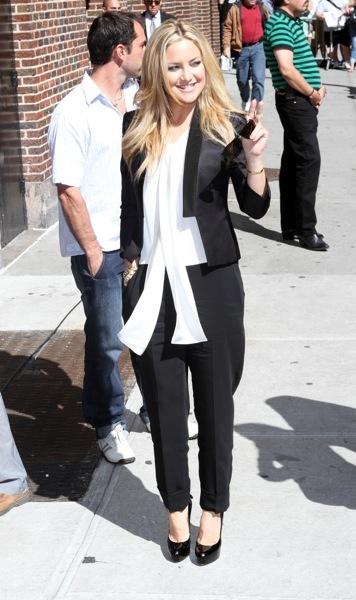 Kate Hudson in a tuxedo jacket